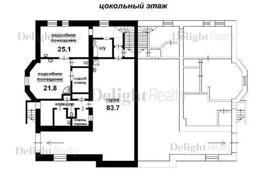 Многокомнатная квартира, 1070 м2, 3 этаж
