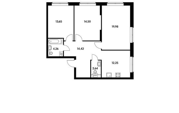 3-комнатная квартира, 81.7 м<sup>2</sup>, 4 этаж_1