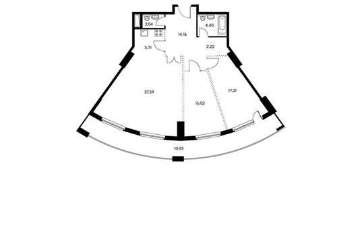 3-комнатная квартира, 111.6 м<sup>2</sup>, 12 этаж_1