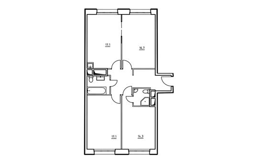 3-комнатная квартира, 83.2 м<sup>2</sup>, 6 этаж