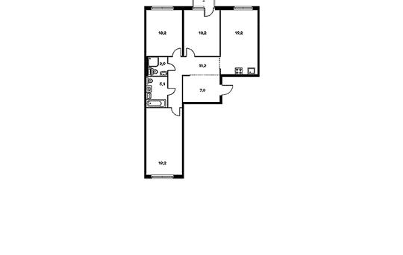 3-комнатная квартира, 92.5 м<sup>2</sup>, 2 этаж_1