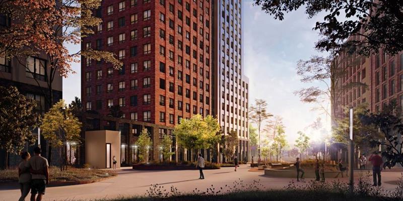 3-комн квартира, 96.63 м2, 24 этаж - фото 1