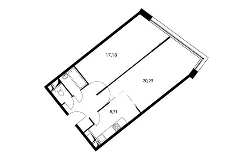 2-комн квартира, 58.5 м2, 5 этаж