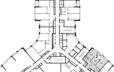 2-комн квартира, 68 м2, 23 этаж
