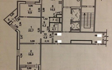 3-комнатная квартира, 83.2 м<sup>2</sup>, 11 этаж