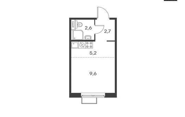 Студия, 20.1 м<sup>2</sup>, 6 этаж_1