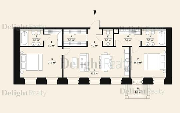 3-комнатная квартира, 111.1 м<sup>2</sup>, 3 этаж_1