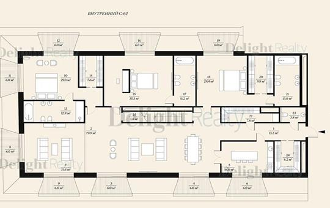 5-комнатная квартира, 308.7 м<sup>2</sup>, 4 этаж