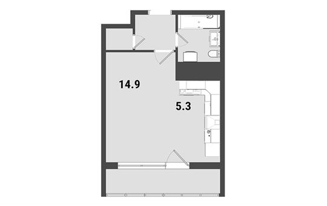 1-комнатная квартира, 29.9 м<sup>2</sup>, 4 этаж_1