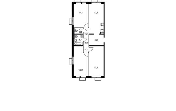 3-комнатная квартира, 80.7 м<sup>2</sup>, 8 этаж_1