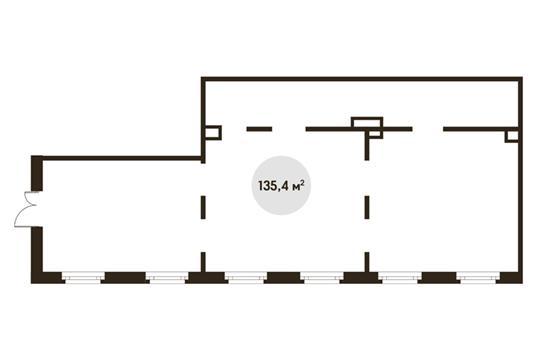 Помещение, 135.4 м<sup>2</sup>