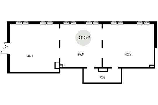 Помещение, 133.2 м<sup>2</sup>