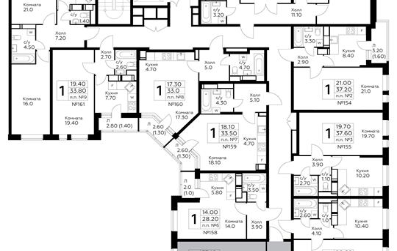 2-комнатная квартира, 64.1 м<sup>2</sup>, 3 этаж