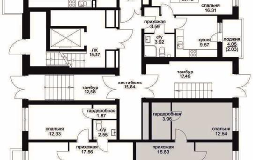 4-комнатная квартира, 108.22 м<sup>2</sup>, 1 этаж_1