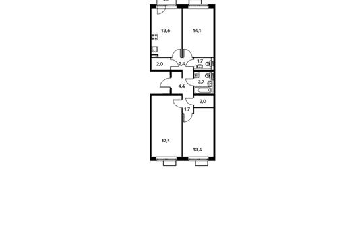 3-комнатная квартира, 76.8 м<sup>2</sup>, 5 этаж