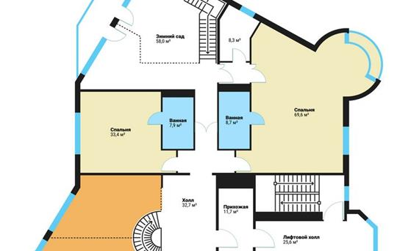 Многокомнатная квартира, 765 м<sup>2</sup>, 13 этаж