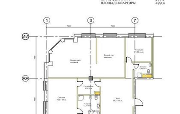 5-комнатная квартира, 504.6 м<sup>2</sup>, 1 этаж