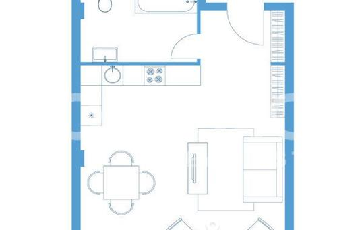 1-комнатная квартира, 45.7 м<sup>2</sup>, 3 этаж_1