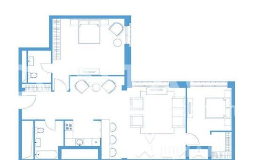 2-комнатная квартира, 110.6 м<sup>2</sup>, 4 этаж