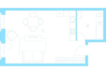 1-комнатная квартира, 44.4 м<sup>2</sup>, 5 этаж_1