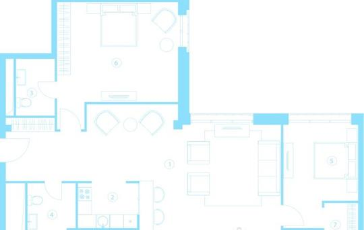 1-комн квартира, 110.6 м<sup>2</sup>, 4 этаж_1