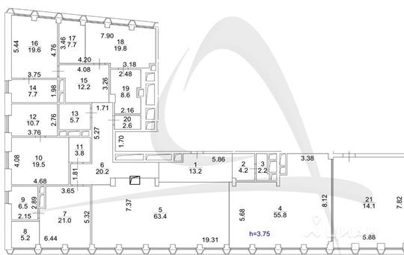 5-комнатная квартира, 323.7 м<sup>2</sup>, 12 этаж