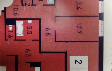 2-комн квартира, 57.9 м2, 11 этаж