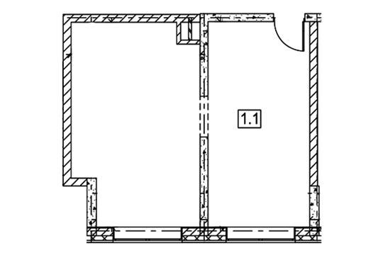 Офис, 46.3 м<sup>2</sup>, класс B