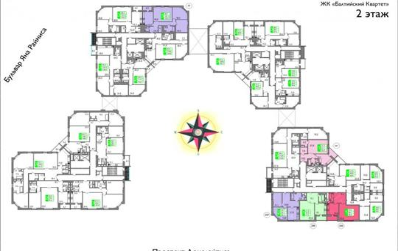 4-комнатная квартира, 131 м<sup>2</sup>,  этаж