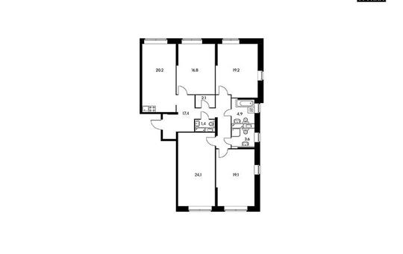 4-комнатная квартира, 128.7 м<sup>2</sup>, 20 этаж_1