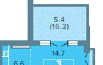 3-комнатная квартира, 73.1 м<sup>2</sup>, 25 этаж_1