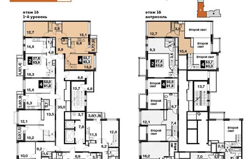 4-комнатная квартира, 93.3 м<sup>2</sup>, 16 этаж