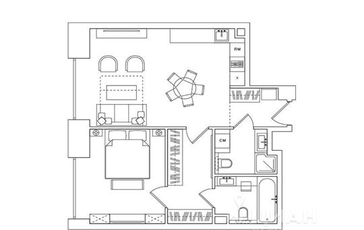 2-комнатная квартира, 58.49 м<sup>2</sup>, 3 этаж