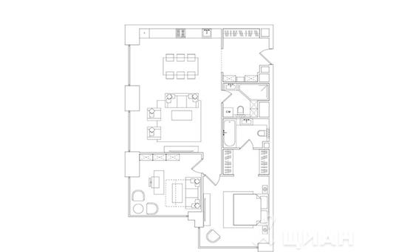 3-комнатная квартира, 100.12 м<sup>2</sup>, 10 этаж