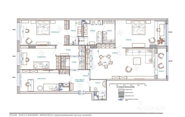 4-комнатная квартира, 187.3 м<sup>2</sup>, 20 этаж