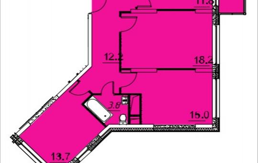 3-комнатная квартира, 81.7 м<sup>2</sup>, 24 этаж_1