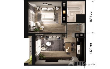 2-комнатная квартира, 60 м<sup>2</sup>, 10 этаж_1
