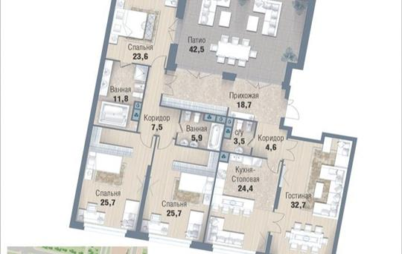 4-комнатная квартира, 196.6 м<sup>2</sup>, 7 этаж_1
