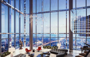 Квартира свободной планировки, 918 м<sup>2</sup>, 95 этаж