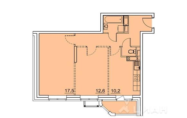 2-комнатная квартира, 55.9 м<sup>2</sup>, 10 этаж_1