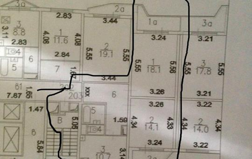 2-комнатная квартира, 60 м<sup>2</sup>, 17 этаж