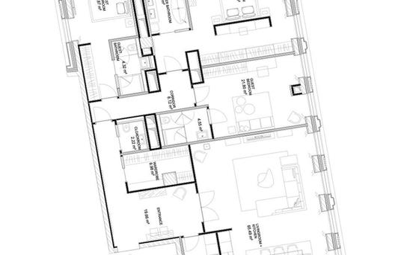 3-комнатная квартира, 203 м<sup>2</sup>, 6 этаж