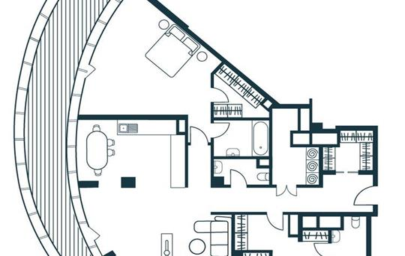 4-комнатная квартира, 153.37 м<sup>2</sup>, 18 этаж