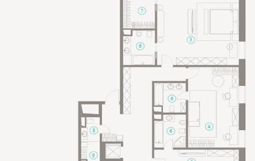 Многокомнатная квартира, 265.61 м<sup>2</sup>, 7 этаж
