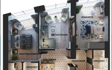 Квартира свободн. план., 108.9 м<sup>2</sup>, 8 этаж_1