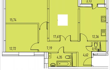 3-комнатная квартира, 82.3 м<sup>2</sup>, 10 этаж_1