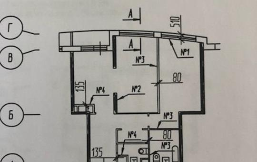 2-комнатная квартира, 84 м<sup>2</sup>, 12 этаж