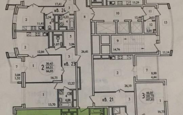 2-комн квартира, 71 м<sup>2</sup>, 7 этаж_1