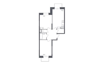 2-комнатная квартира, 54.5 м<sup>2</sup>, 3 этаж_1