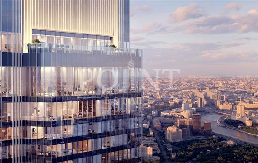 1-комн квартира, 57 м2, 40 этаж